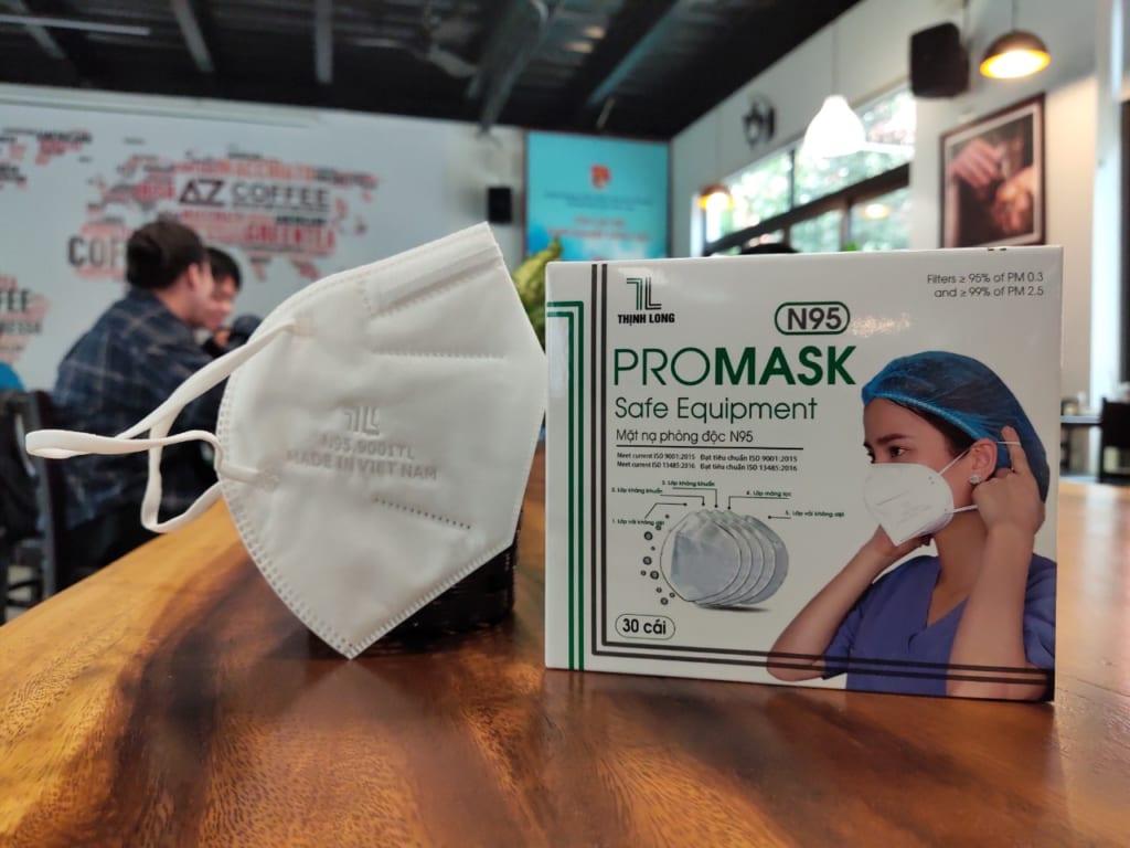Khẩu trang Promask N95 Thịnh Long tiêu chuẩn Niosh đầu tiên tại Việt Nam